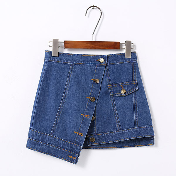 Female clothes  women's dress +Ladies' denim button front skirt suit  casual two-piece clothes set