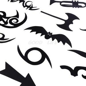 Image 4 - تصفيف الشعر الوشم قالب Stencil المتقلب صالون الحلاق DIY بها بنفسك تصفيف الشعر نموذج