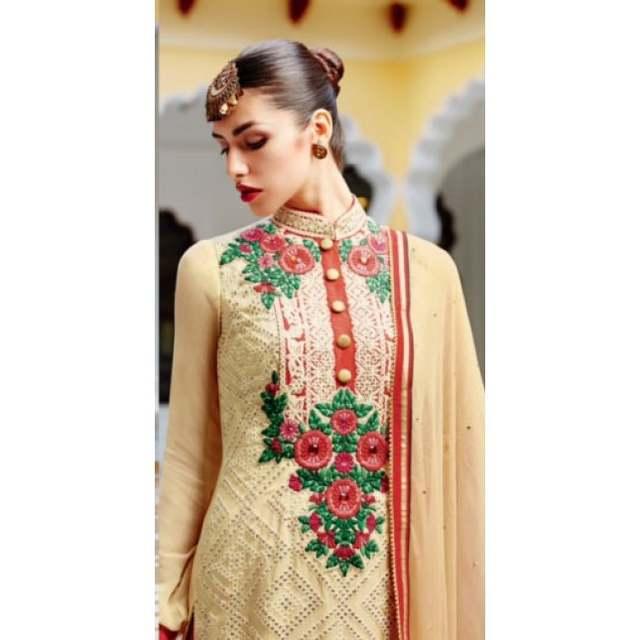 69d239758b7 placeholder Beige Salwar Kameez Embroidery Party Wedding Wear Pakistan  Salwar Tradittional Pakistani Kimora suits Red Pants with