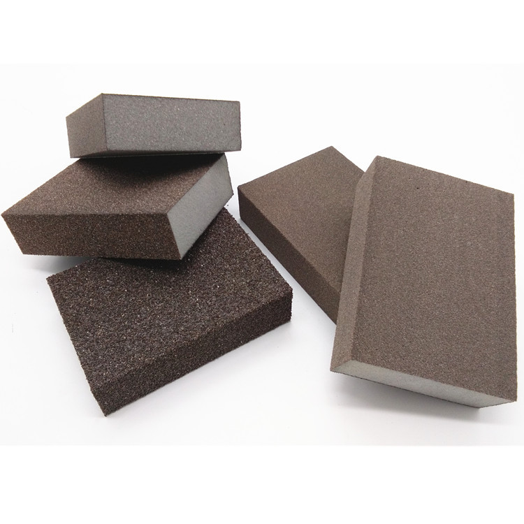 1pc Polishing Sanding Sponge Block Pad Set Sandpaper Assorted Grit 60 120 240 400