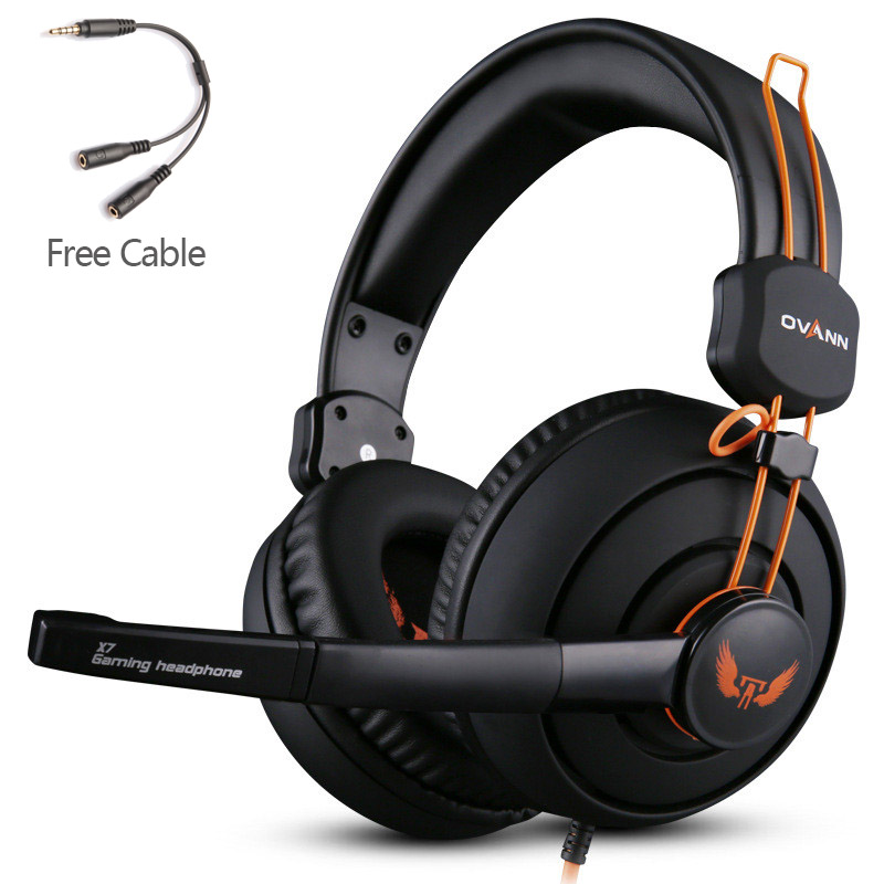 Computer Earphones Headband Headphones Ovann X7 Stereo Surround Game Headphone Gaming Headset 3.5mm with Mic Volume Control teamyo n2 computer stereo gaming headphones earphones for mobile phone ps4 xbox pc gamer headphone with mic headset earbuds