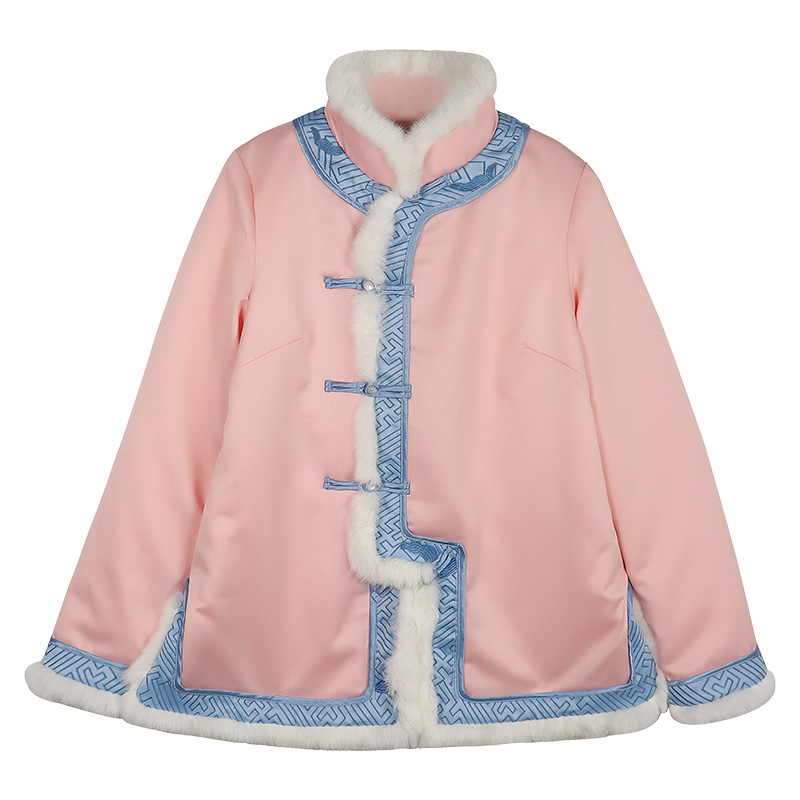 Winter New Cotton Padded Long Sleeve Warm Women Jacket Vintage Improved Handmade Button Coat Chinese Style Outwear Tang Top