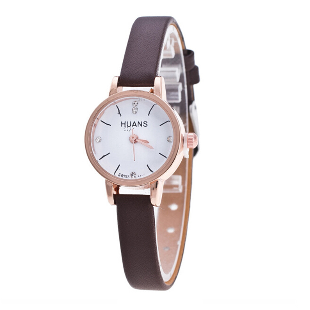 Women Watch Ladies Elegant Casual PU Leather Band Quartz Analog Wrist Watch relogio feminino zegarek damski reloj mujer 2019 New