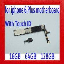 16 Гб/64 Гб/128 ГБ оригинальная разблокированная для iphone 6 Plus материнская плата с сенсорным ID, черный для iphone 6 P 6plus материнская плата, без iCloud