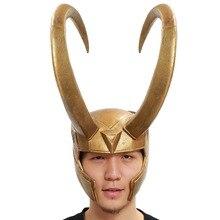 2016 Xcoser Loki Helmet Marvel Thor Loki Cosplay Costume Golden PVC Full Head Mask For Halloween Prop Presale Brand New