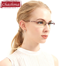 c6f26002a0 Chashma Brand Fashion Eyewear Half Frame Metal Red Glasses Frame Clear  Lenses Lady Quality Reading Glasses