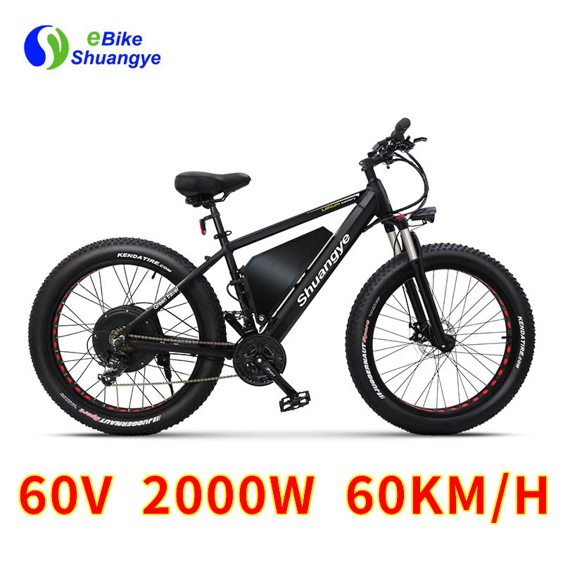 26 4 0 inch fat tire electric bike 60v 2000w motor max. Black Bedroom Furniture Sets. Home Design Ideas