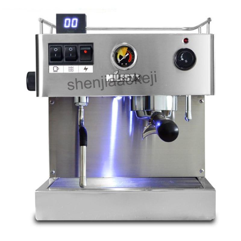 Aço inoxidável comercial máquina de café semi EM-19-M2 Italiana máquina de café que faz a máquina de café Expresso 2500 W 1 PC
