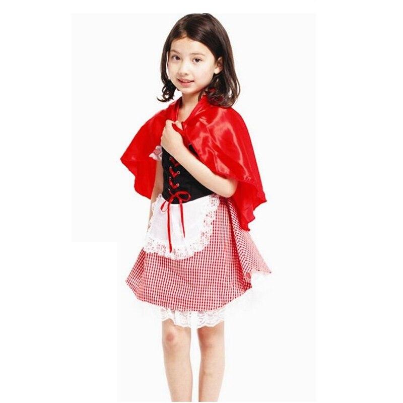 Qız kostyumu Şirin Balaca Miss Qırmızı Qız Cosplay Halloween - Karnaval kostyumlar - Fotoqrafiya 3