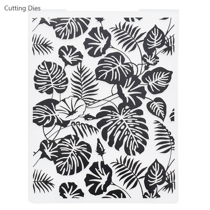 2019 Turtle Leaves Plastic Embossing Folders For Diy Scrapbooking Photo Album Paper Card Making Crafts