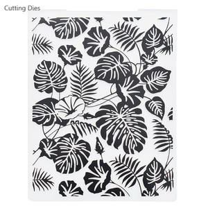 2019 Turtle Leaves Plastic Embossing Folders For Diy Scrapbooking Photo Album Paper Card Making Crafts
