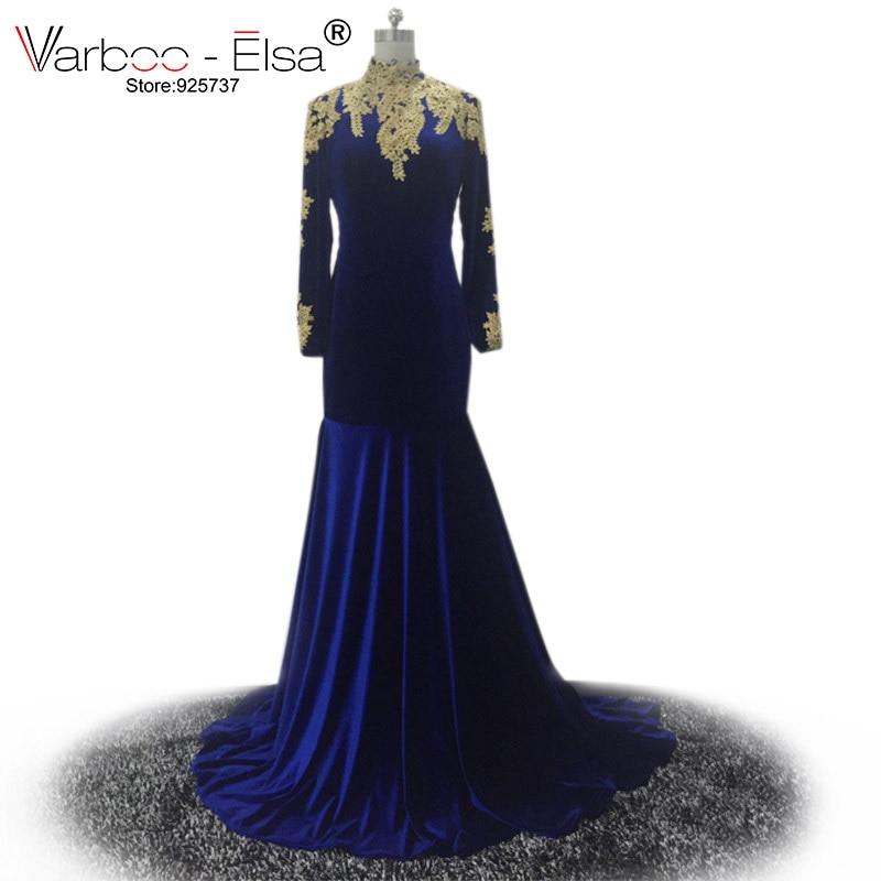 Fashionable Boat Neck Long Sleeve Mermaid Long Evening Dresses 2019 Burgundy Appliques Lace Formal Dress Vestido De Festa Kaftan Weddings & Events