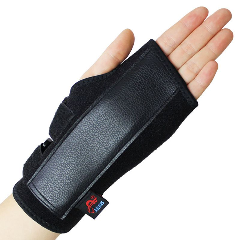 Black Adjustable Left & Right Hand Wrist Support Splint Brace Glove Anti-Sprain Sports Safety