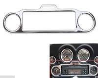Chrome Stereo Accent Trim Ring Cover For Harley Ultra Classic Touring FLHX FLHT