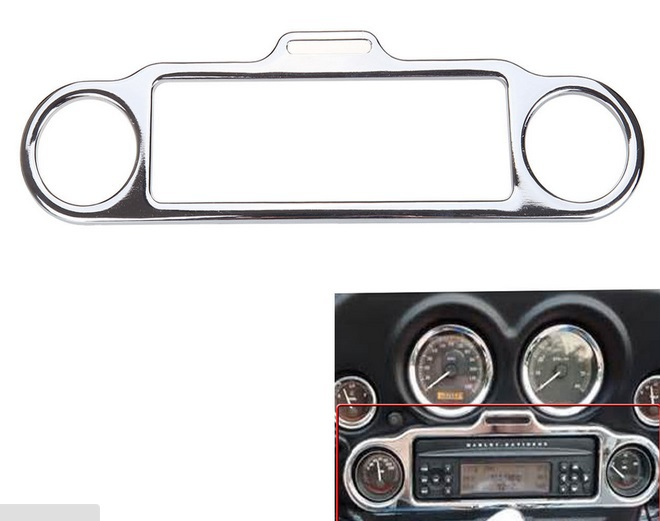 Chrome Stereo Accent Trim Ring Cover For Harley Ultra Classic Touring FLHX FLHT винный шкаф caso winemaster 38
