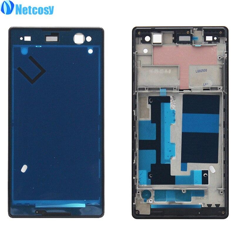 Netcosy LCD Display Frame Lunette Logement Couverture Un Cadre pour Sony Xperia C3 S55T Avant Écran Cadre Conseil Pas Cher Replacemenrt réparation