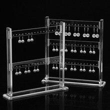 אקריליק עגילי שרשרת תכשיטי תצוגת Rack Stand ארגונית תכשיטי עגיל בעל 23*24cm