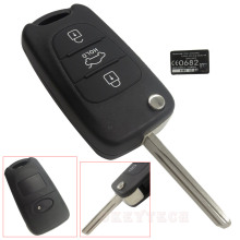 For Hyundai Elantra i30 i40 i20 IX35 For KIA picanto rio K5 3 Buttons Flip key Folding Remote Car Key Shell auto Switchblade key
