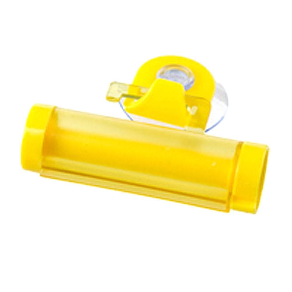 1 шт. ABS пластик 8*7,7*2,5 см висят с присоской крюк Пресс Зубная паста трубка диспенсер ванная комната прокатки зубная паста выжать - Цвет: yellow