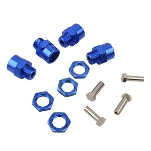 Image 3 - 4 Pezzi in Lega di Alluminio 12 Millimetri a 17 Millimetri Wheel Hex Hub Adattatore di Conversione per 1/10 Rc Auto 1/8 Pneumatici