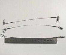 "3 шт. 8 ""27lb Micro лидер ж/Подшипник Поворотные Рыбалка приманки Крючки линии трассировки Провода Лидер Поворотный spinner Акула Spinning"