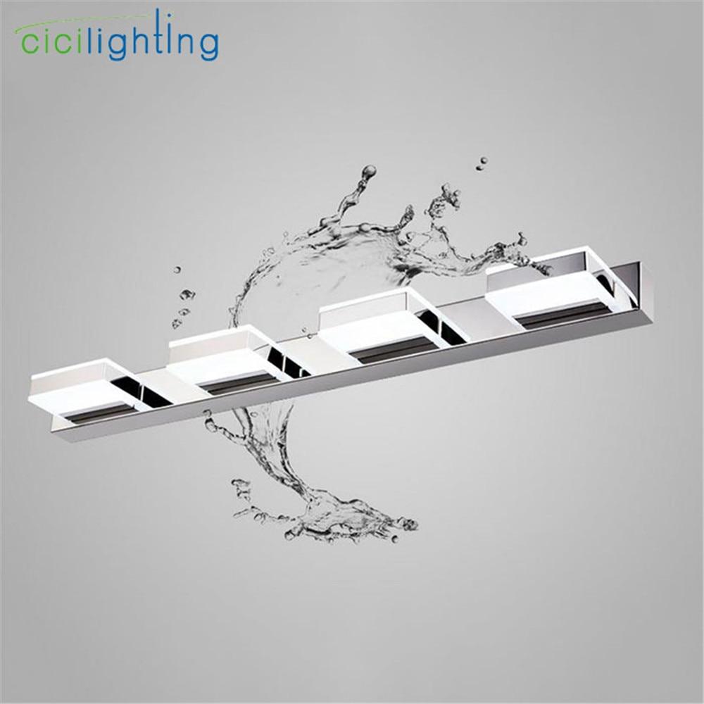 цена на 2017 New L16cm 35cm 50cm 68cm Longer LED Mirror Light Modern Cosmetic Acrylic Wall lamp Bathroom Lighting Waterproof Vanity lamp