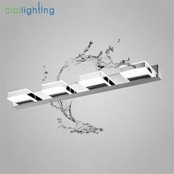 Nowoczesne L16cm 35cm 50cm długość 68cm lampa led nad lustro nowoczesne kosmetyczne akrylowa lampa ścienna oświetlenie łazienki wodoodporna lampa wisząca próżność w null od Lampy i oświetlenie na