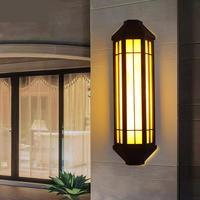 Китайский Открытый водонепроницаемый имитация мрамора бра отель снаружи бра, настенные светильники отдела продаж двери фонарь на столб по