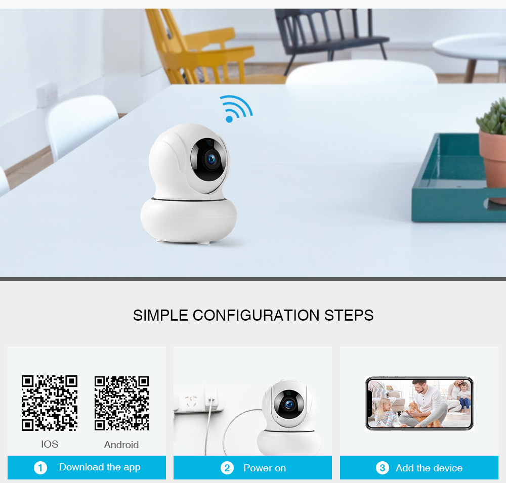 FREDI 4X Zoomable IP Camera 1080P Auto Tracking Surveillance Cameras  Wireless Network WiFi PTZ CCTV Camera Home Security Security And  Surveillance