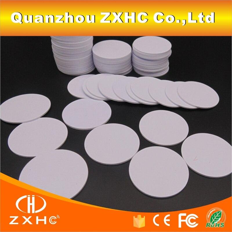 (10PCS) ISO 15693 I-code Slix (Icode2) RFID 30MM PVC Coin Tag