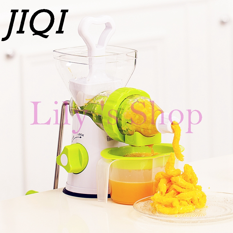 Manual slow juicer exprimidor fruit blender vegetable squeezer plastic multifunction household Juice Extractor free shipping electric household fruit juicer machine 4 in 1 multi function dry and wet blender machine baby juice extractor juicer es 176