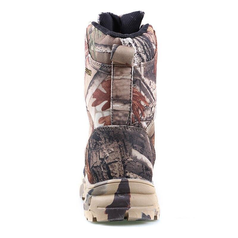 Новые уличные водонепроницаемые охотничьи сапоги камуфляжные зимние кроссовки зимние сапоги Плюшевые тактические мужские ботинки для взрослых прогулочная обувь - 4