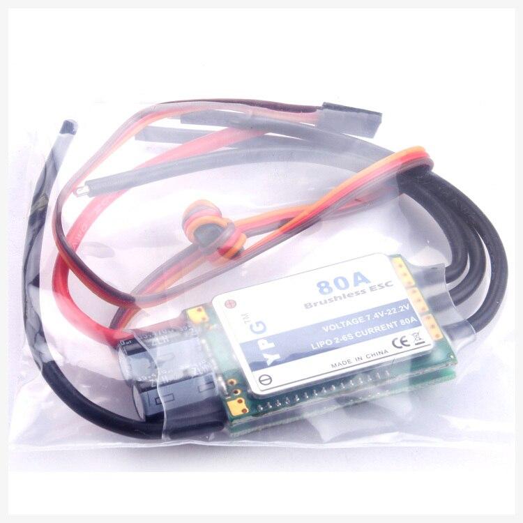 Freeshipping YPG 80A (2 ~ 6 S) SBEC controlador de velocidad sin escobillas ESC de alta calidad-in Partes y accesorios from Juguetes y pasatiempos    1