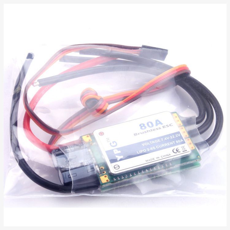 Freeshipping YPG 80A (2~6S) SBEC Brushless Speed Controller ESC High Quality mystery speed controller 80a esc for brushless motors on r c helicopters
