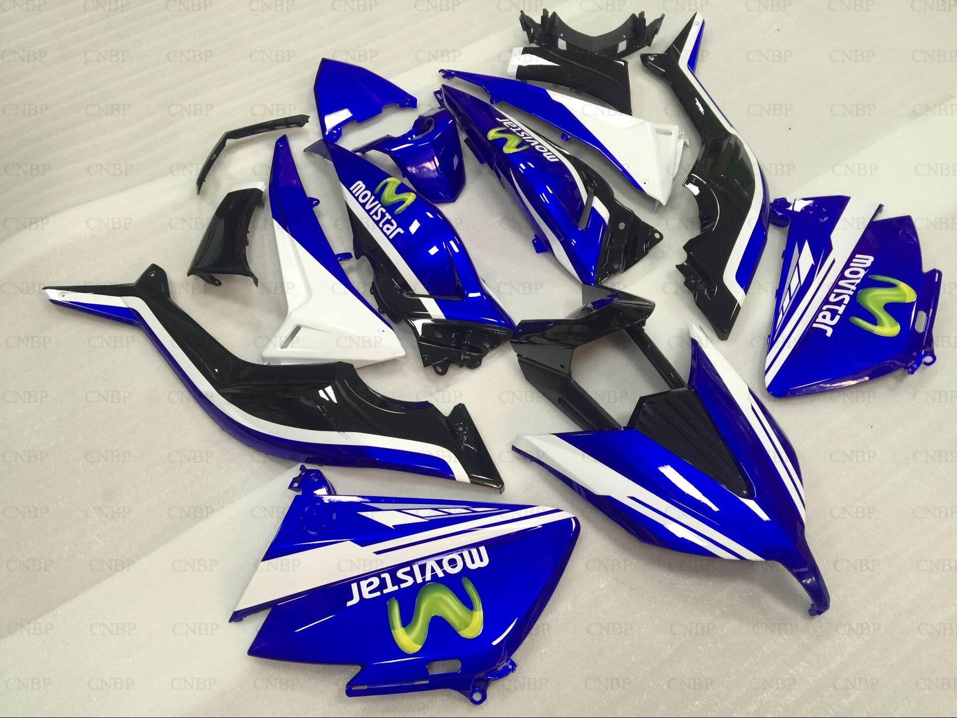Abs Fairing for YAMAHA TMAX530 15 Abs Fairing T-MAX530 2015 2015 - 2016 Blue for MOVISTAR Body Kits T-MAX530 16