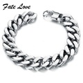 PUNK Biker 316L STAINLESS Steel Mens Bracelet  Bike Bicycle Chain Bracelet  14mm thicker width Jewellery