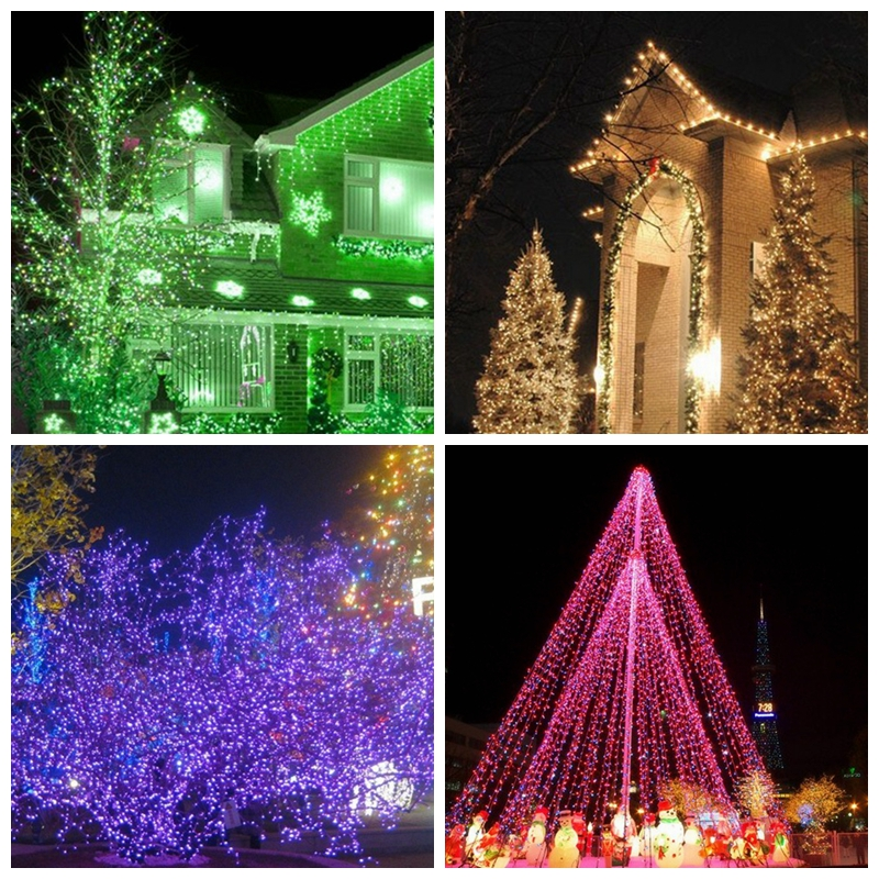 20M 200 LEDs Holiday String Lights For Festival Party Fairy Colorful LED Chirstmas Light Bulbs Garden Curtain Decor 10M 100LEDs