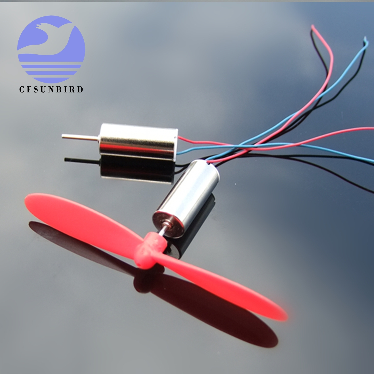 1 Pair DC 4.2V 614 Micro DIY Helicopter Coreless Motor With Propeller High Speed
