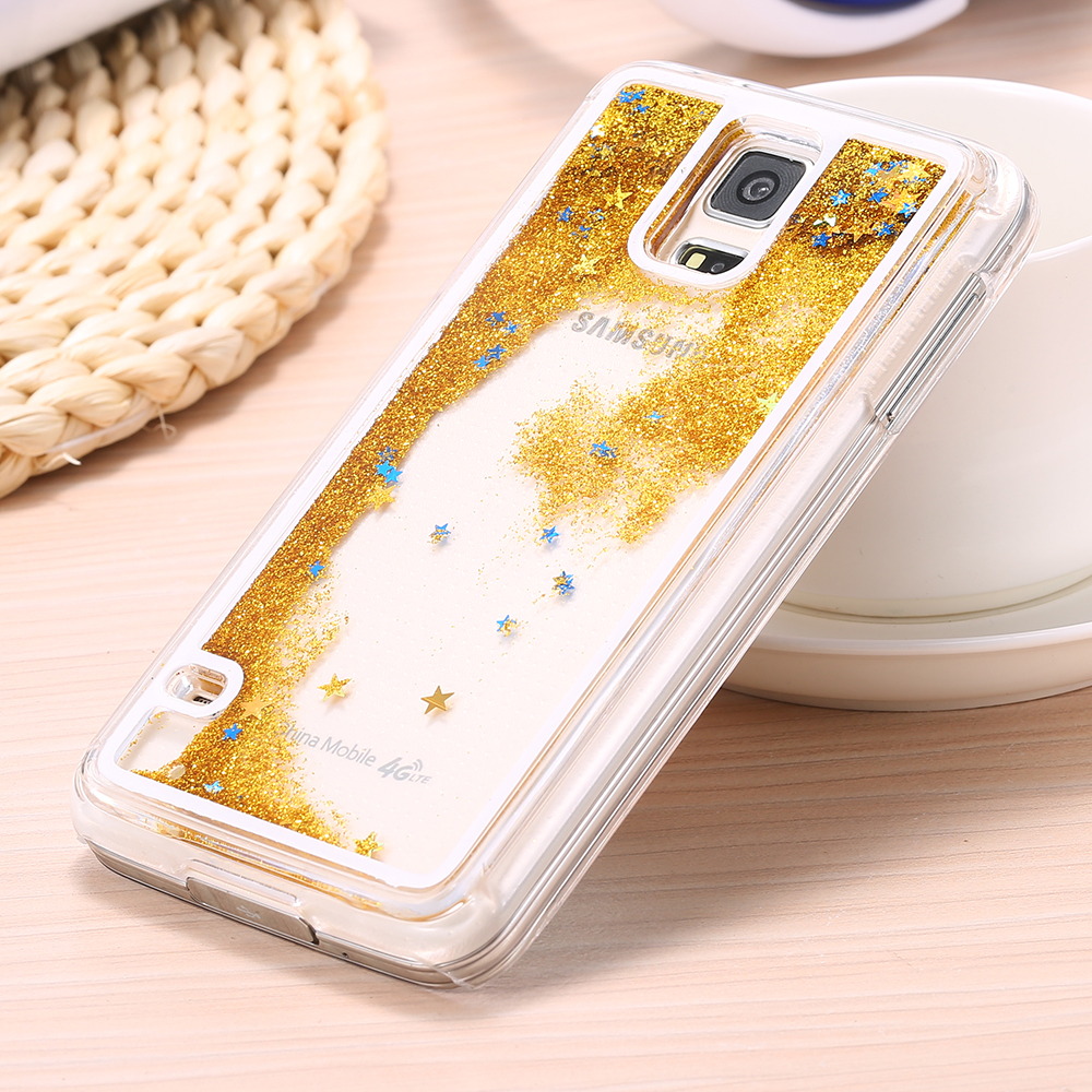 the best attitude e0bd9 89b42 US $4.7 |KISSCASE For Samsung S5 Cases Fashion Glitter Dynamic Liquid Sand  Quicksand Case For Samsung Galaxy S5 I9600 SV Clear Cover Bag-in ...