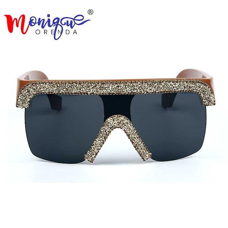 3b85e8cb978e7 ... 2019 Sunglasses men Vintage Cool style Goggle Sunglasses bling  rhinestones sunglasses women oculos de sol feminino ...