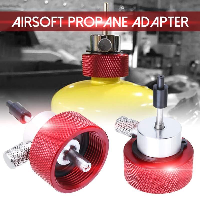 Heißer Verkauf Rote Metall Silikon Mew Airsoft Propan Füllung Adapter für Grün Propan Gas Tank mit Silikon Öl Port Gas adapter