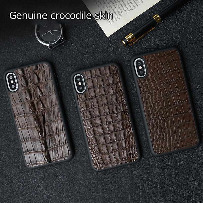 Натуральный Крокодил из натуральной кожи для huawei p20 lite чехол высококачественный кожаный чехол для huawei p20 pro Чехол - 2