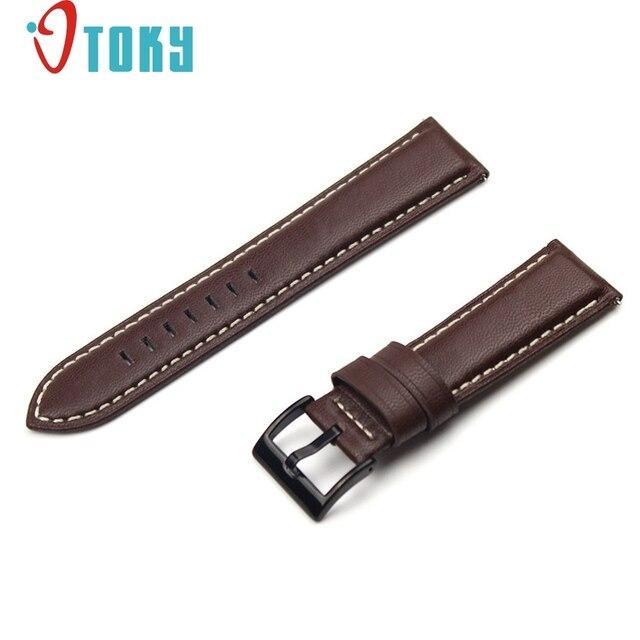 Hot koop otoky fabulous luxe lederen horloge armband strap band voor samsung gear s3 frontier/klasse drop verzending #0220