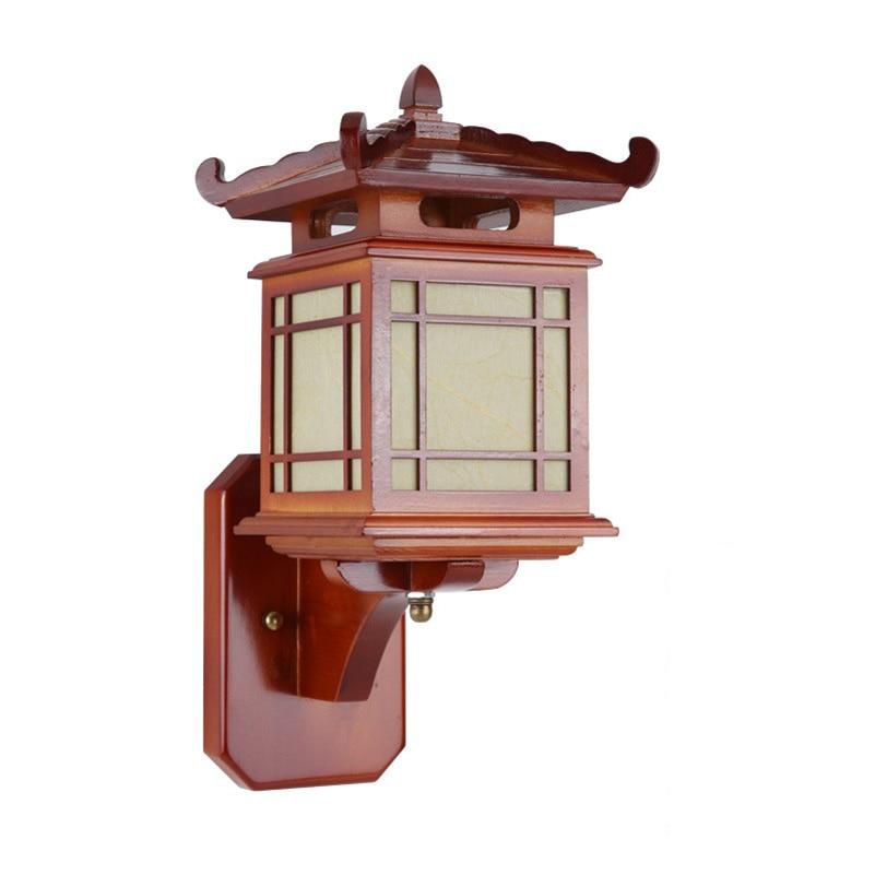 Retro chinesische Wandlampe für Schlafzimmer Wohnzimmer, antike - Innenbeleuchtung - Foto 5