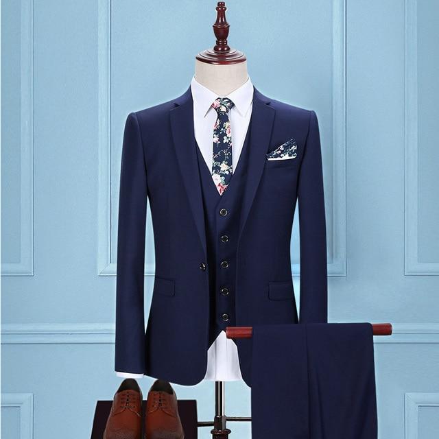 Light blue Herringbone Tweed tailor slim fit wedding suits for men ...