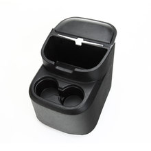 ABS Black Rear Water Cup Holder Storage Box Pocket Tray Organizer For Wrangler 4 Door Car Styling