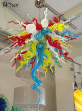 Free Shipping Affordable Wedding Decoration Chihuly Style Hand Blown Glass Chandelier