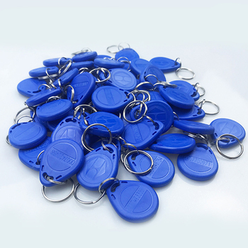 50 Pcs/lot EM4305 T5577 Copy Rewritable Writable Rewrite Keyfobs RFID Tag Key Ring Card 125KHZ Proximity Token Badge Duplicate