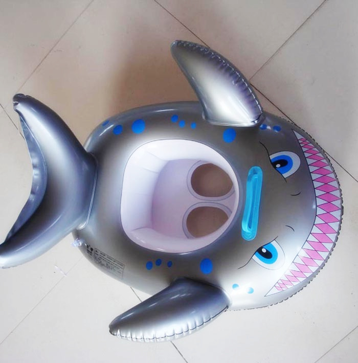 [ Funny] Seat Float shark Swimming Pool Accessories Plastic Kids Children Pool Inflatable Swimming Circle baby catoon boat toy