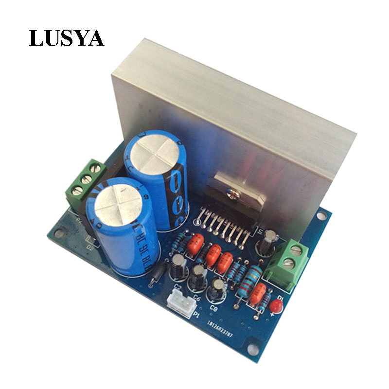 Lusya Audio Amplifier Board TDA7294 Mono Audio Power Amplifier Module 100W Power Supply DC48V / AC28V power audio 4channels amplifier blue board amplifier with 3300uf capacitors